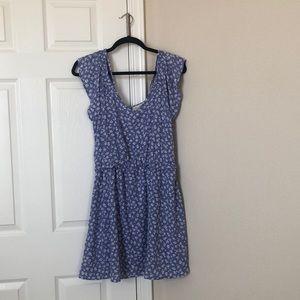 Jessica Simpson Blue Floral Summer Dress